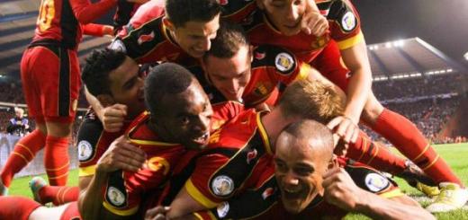 Belgium Celebrate becoming Worlds best