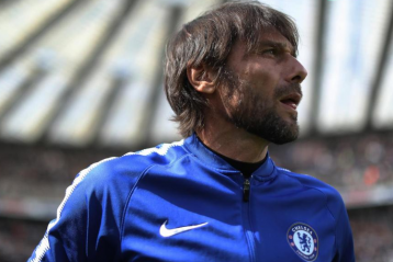 Blues coach Antonio Conte awaits his sacking
